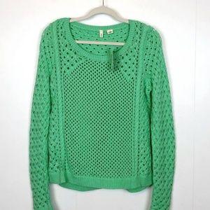 Anthro MOTH mint green sweater